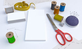 Schneiderwerkzeuge, Modell Lizenzfreie Stockbilder