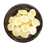Schneidet Banane Lizenzfreie Stockfotografie