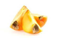 Schneidet orange Persimone Lizenzfreies Stockbild