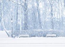 Schneien Stockfoto