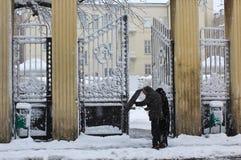 Schneien im Winter Lizenzfreies Stockbild