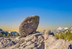 Schneien Sie auf Berg Lassen im Nationalpark lizenzfreies stockfoto