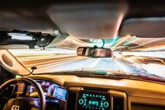 Schnell fahren und Reisen mit Lichtgeschwindigkeit Lizenzfreie Stockfotografie