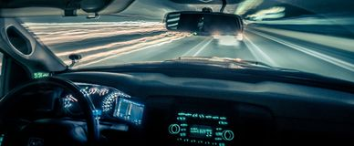 Schnell fahren und Reisen mit Lichtgeschwindigkeit Stockfoto