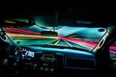 Schnell fahren und Reisen mit Lichtgeschwindigkeit Lizenzfreies Stockfoto