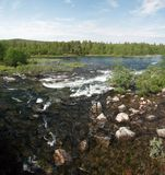 Schnell rives von Lappland Stockfotografie