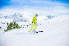 Schnell Ski fahren ist Spaß Lizenzfreies Stockfoto