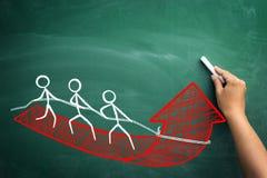 Schnell wachsendes Geschäft mit Teamarbeit stockfoto