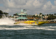 Schnellboot bereist in Miami, Florida Lizenzfreies Stockbild