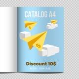 Schnelle Blatt-Illustrationsförderung des Vektorkataloges A4 vektor abbildung