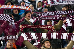 Schnelle Bucharest-Fußballfane Stockbilder