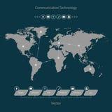 Schnelle Kommunikation Stockfoto