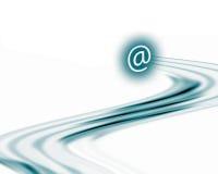 Schnelle Kommunikationen (auf Weiß) Stockfoto