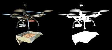 Schnelle Lieferung mit Konzeptfoto der neuen Technologie mit Alpha Stockbilder
