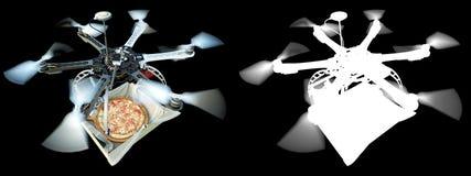 Schnelle Lieferung mit Konzeptfoto der neuen Technologie mit Alpha Lizenzfreie Stockbilder