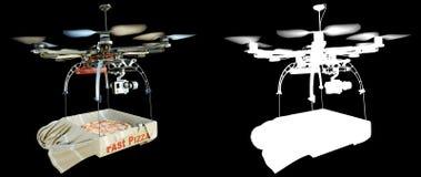 Schnelle Lieferung mit Konzeptfoto der neuen Technologie mit Alpha Stockfoto