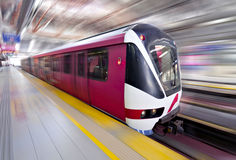 Schnelle LRT Serie in der Bewegung, Kuala Lumpur Stockfotos