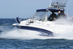 Schnelle mit der Schleppangel fischene Geschwindigkeit Stockbilder