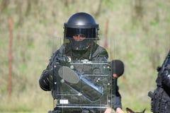 Schnelle Patrouille der tschechischen Stadt-Polizei lizenzfreies stockbild