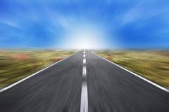 Schnelle Straße zum Erfolg Stockbild