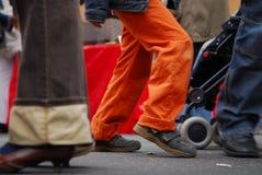 Schneller Fußgänger   Lizenzfreie Stockfotos