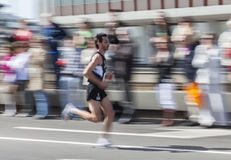 Schneller Marathon-Seitentrieb Stockbild