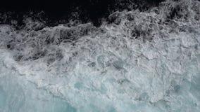 schneller Meereswoge vom Seeschiff stock footage