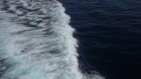 schneller Meereswoge vom Seeschiff stock video