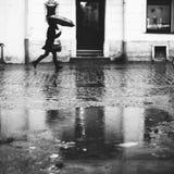 Schneller Regen Stockfoto