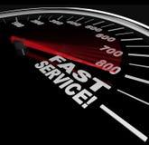 Schneller Service - schnelle Kundenbetreuung Stockbild