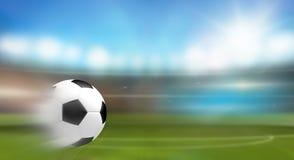Schneller Triebfußball soocer Ball 3d übertragen Stockfoto