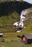 Schneller Wasserfall Stockbild