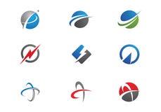 Schnelleres Logoschablonenvektor-Ikonendesign Lizenzfreie Stockbilder