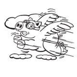 Schnelles Fliegen-Schwein Lizenzfreie Stockfotografie