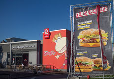 Schnelles Qualitäts-Burger-Restaurant Stockfoto