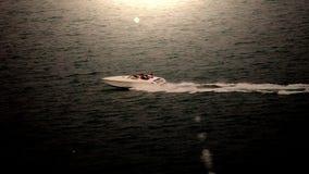 schnelles Schnellboot, das die remapped Zeit war stock footage