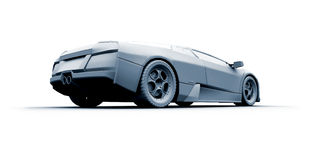 Schnelles Sportauto. Baumuster 3D Lizenzfreie Stockfotos