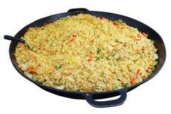 Schnelles Straßenlebensmittel - vegetarischer Pilaf mit Gemüse und Curry-SP lizenzfreies stockbild