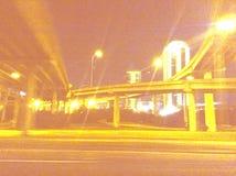 Schnellfahren durch Dallas Stockfoto
