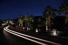 Schnellfahren hinter die Straße von Palm Spring Stockfotografie