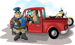 Schnellfahren-Karte Lizenzfreies Stockbild