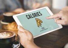 Schnellimbiß der Pizza-Ikone ungesundes Snack-Kalorien-Fett-Konzept lizenzfreie stockbilder
