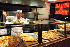 Schnellimbiß - Pizza Stockfotos