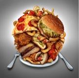 Schnellimbiss-Diät Stockfotografie