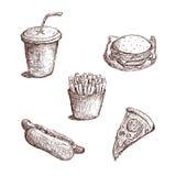 Schnellimbiss-Skizze Stock Abbildung