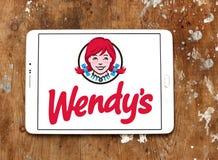 Schnellimbisslogo Wendys stockbild