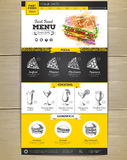 Schnellimbissmenükonzept Websitedesign Stockbilder