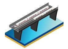 Schnellzug Isometrische Illustration des Vektors eines Schnellzugs Lizenzfreies Stockfoto