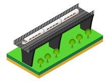 Schnellzug Isometrische Illustration des Vektors eines Schnellzugs Lizenzfreie Stockfotografie