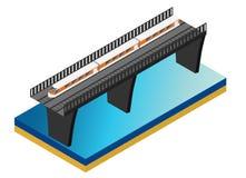 Schnellzug Isometrische Illustration des Vektors eines Schnellzugs Lizenzfreie Stockbilder